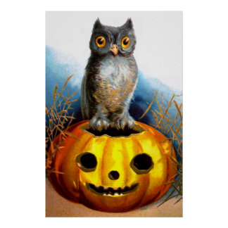 Ellen H. Clapsaddle: Halloween Owl Poster