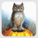 Ellen H. Clapsaddle: Halloween Owl Square Sticker