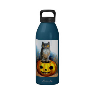 Ellen H. Clapsaddle: Halloween Owl Reusable Water Bottles