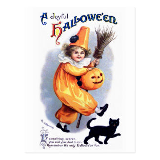Ellen H. Clapsaddle: Harlequin de Halloween con el Postales