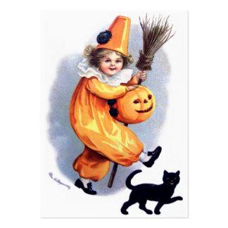 Ellen H. Clapsaddle: Harlequin de Halloween con el Tarjetas De Visita Grandes