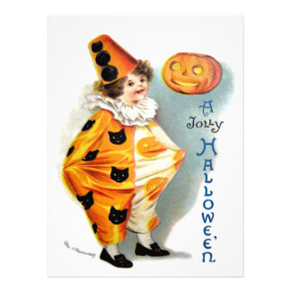 Ellen H. Clapsaddle: Harlequin de Halloween Invitaciones Personales