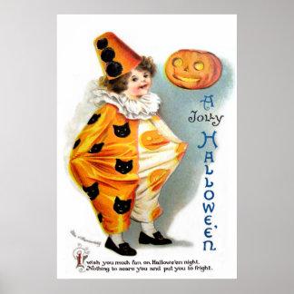 Ellen H Clapsaddle Harlequin de Halloween Impresiones