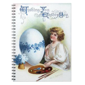 Ellen H. Clapsaddle: Huevo de Pascua 3 Libros De Apuntes Con Espiral
