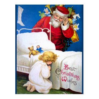 Ellen H. Clapsaddle: Listening Santa Postcard