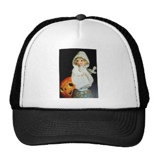 Ellen H. Clapsaddle: Little Girl with Candle Trucker Hat