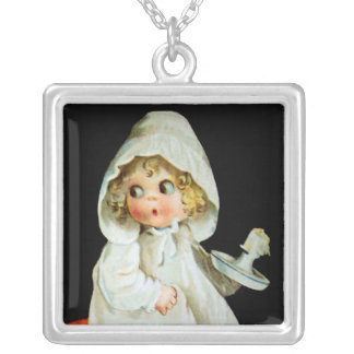 Ellen H. Clapsaddle: Little Girl with Candle Custom Jewelry