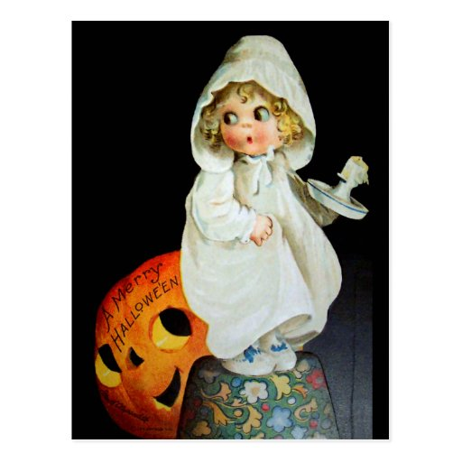 Ellen H. Clapsaddle: Little Girl with Candle Postcards