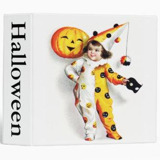 Ellen H. Clapsaddle: Little Halloween Harlequin 3 Ring Binder