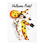 Ellen H. Clapsaddle: Little Halloween Harlequin Personalized Announcement