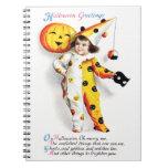 Ellen H. Clapsaddle: Little Halloween Harlequin Notebooks