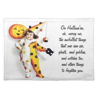 Ellen H. Clapsaddle: Little Halloween Harlequin Placemat