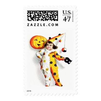 Ellen H. Clapsaddle: Little Halloween Harlequin Postage