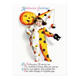 Ellen H. Clapsaddle: Little Halloween Harlequin Postcard