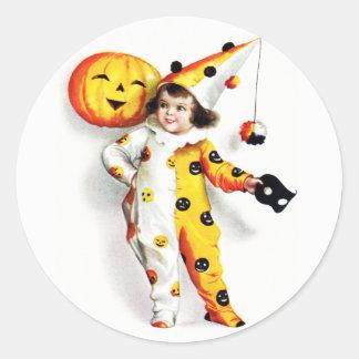 Ellen H. Clapsaddle: Little Halloween Harlequin Sticker