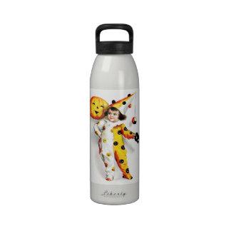Ellen H. Clapsaddle: Little Halloween Harlequin Drinking Bottles