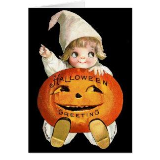 Ellen H. Clapsaddle: Little Pumpkin Boy Greeting Card