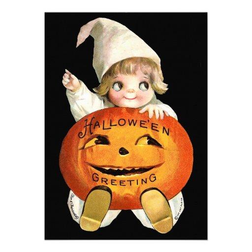 Ellen H. Clapsaddle: Little Pumpkin Boy Personalized Invitations