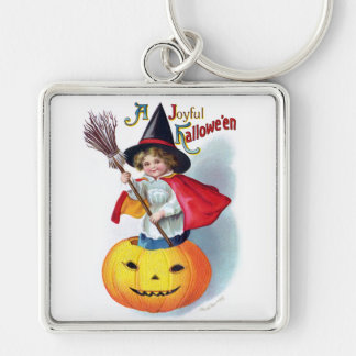 Ellen H. Clapsaddle: Little Pumpkin Witch Keychain