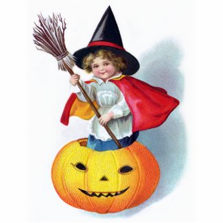 Ellen H. Clapsaddle: Little Pumpkin Witch