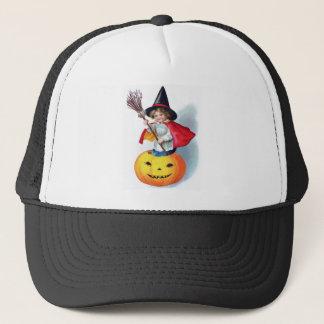 Ellen H. Clapsaddle: Little Pumpkin Witch Trucker Hat