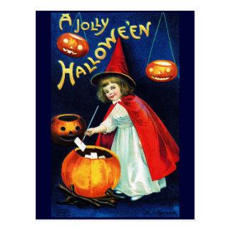 Ellen H. Clapsaddle: Little Witch Postcard