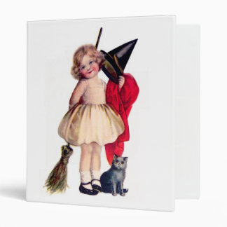 Ellen H. Clapsaddle: Little Witch with Cat Binder