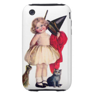 Ellen H. Clapsaddle: Little Witch with Cat iPhone 3 Tough Cover