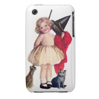 Ellen H. Clapsaddle: Little Witch with Cat iPhone 3 Cases