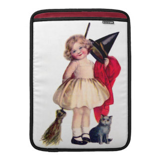 Ellen H. Clapsaddle: Little Witch with Cat Sleeve For MacBook Air