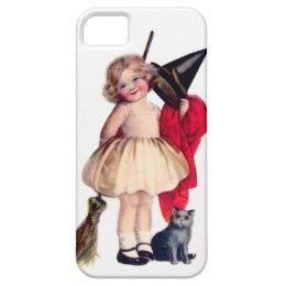 Ellen H. Clapsaddle: Little Witch with Cat iPhone SE/5/5s Case