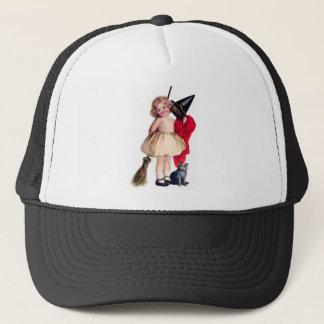 Ellen H. Clapsaddle: Little Witch with Cat Trucker Hat