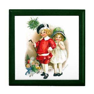 Ellen H. Clapsaddle: Muchacho y chica con los jugu Cajas De Joyas