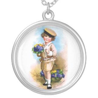 Ellen H. Clapsaddle: Niño con nomeolvides Colgante Redondo