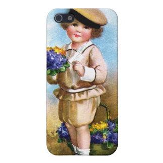 Ellen H. Clapsaddle: Niño con nomeolvides iPhone 5 Protectores