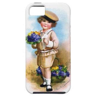 Ellen H. Clapsaddle: Niño con nomeolvides Funda Para iPhone SE/5/5s