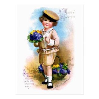 Ellen H. Clapsaddle: Niño con nomeolvides Tarjetas Postales