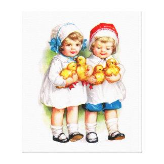 Ellen H. Clapsaddle: Niños con los anadones Lona Envuelta Para Galerias