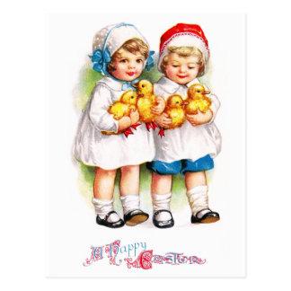 Ellen H. Clapsaddle: Niños con los anadones Postales