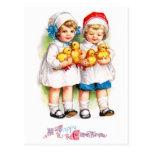 Ellen H. Clapsaddle: Niños con los anadones Tarjeta Postal