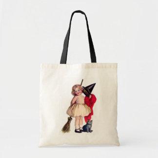 Ellen H. Clapsaddle: Pequeña bruja con el gato Bolsa Tela Barata