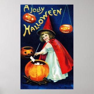 Ellen H. Clapsaddle: Pequeña bruja Posters