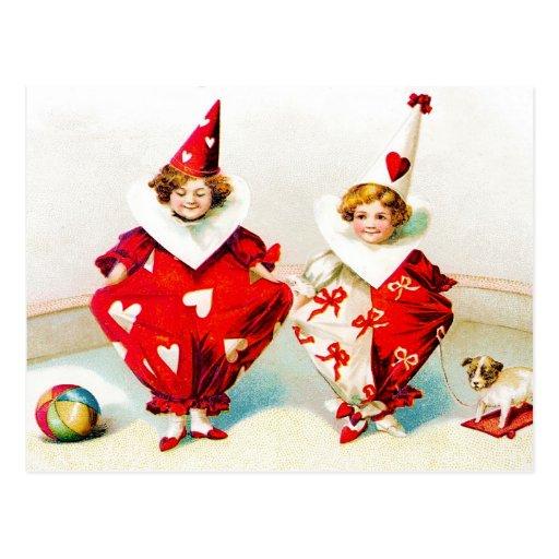Ellen H. Clapsaddle Pierrot Children Post Cards