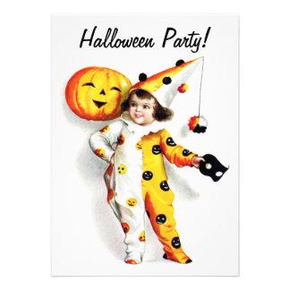 Ellen H. Clapsaddle: Poco Harlequin de Halloween Invitacion Personal