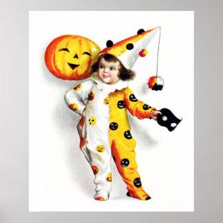 Ellen H Clapsaddle Poco Harlequin de Halloween Posters