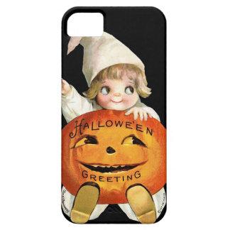 Ellen H Clapsaddle Poco muchacho de la calabaza iPhone 5 Case-Mate Protector