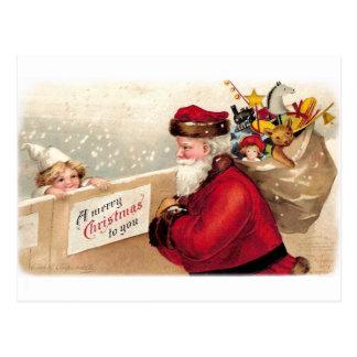Ellen H. Clapsaddle - Santa con el niño Postal