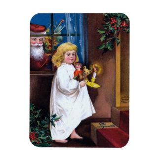 Ellen H. Clapsaddle: Santa Looking through Window Magnet