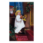 Ellen H. Clapsaddle: Santa Looking through Window Poster