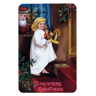 Ellen H. Clapsaddle: Santa Looking through Window